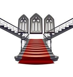Gothic stairs interior8 vector