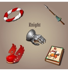 Knight set part of the vestments five items vector image