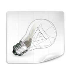 Lamp drawing vector image