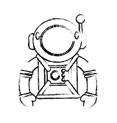 suit space astronaut image sketch vector image vector image