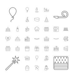 37 birthday icons vector