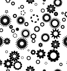 Abstract background gear pattern vector
