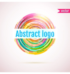 Abstract geometric circle logo with space for your vector