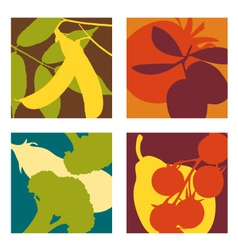 Abstract vegetable designs set 3 vector