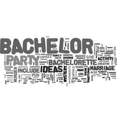 Bachelor party ideas that won t leave you in the vector