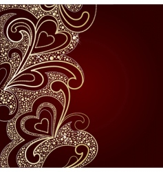 background by valentines day vector image