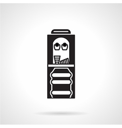 Black monochrome water cooler icon vector