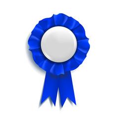 blue award ribbon best trophy luxury vector image