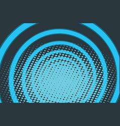 blue circle ring radio pop art background vector image