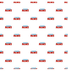 Breaking live news pattern seamless vector