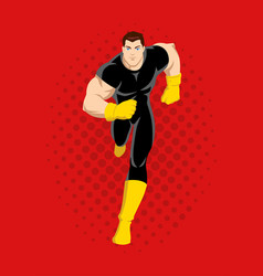 cartoon of a superhero running vector image