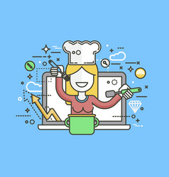 chef cook nutritionist vector image