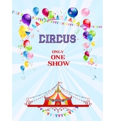 Circus poster with balloons vector