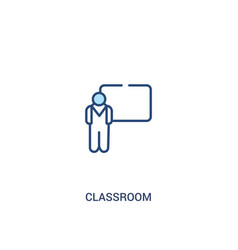 Classroom concept 2 colored icon simple line vector