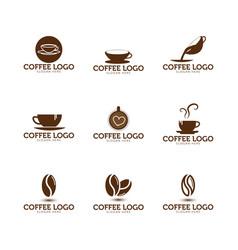 Coffee logo icon template vector