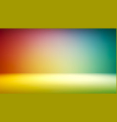 Colorful gradient studio backdrop with empty space vector