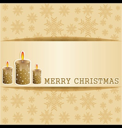 Creative greeting card for christmas vector