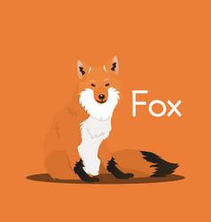 Cute cartoon wild foxanimal graphic vector