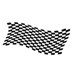 dynamic racing flag vector image