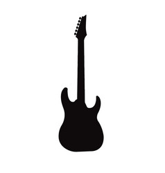 electric rock guitar music instrumental sign vector image