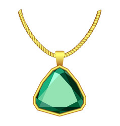 Emerald jewelry icon realistic style vector