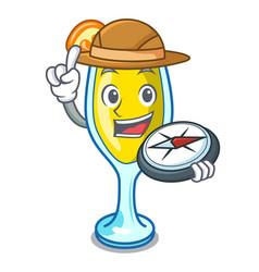 Explorer mimosa mascot cartoon style vector