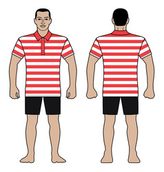Fashion man figure and polo t shirt design with vector