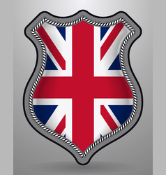 Flag of united kingdom badge and icon vector