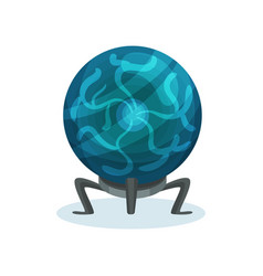 Flat icon of magic ball crystal sphere on vector