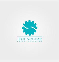 Gear logo templatetechnology design for business vector