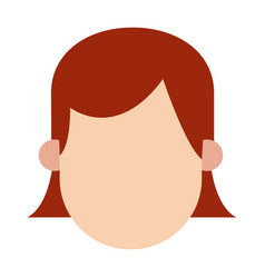 Girl hairred faceless people character image vector