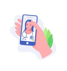Healthcare mobile service concept vector