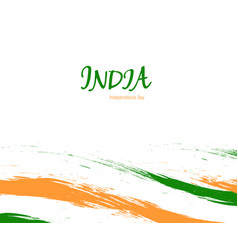Independence day of india watercolor sign on white vector