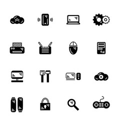 it icon set vector image