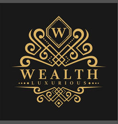 Letter w logo - classic luxurious style logo vector