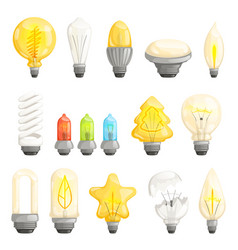 light bulbs modern lamp save energy fluorescent vector image