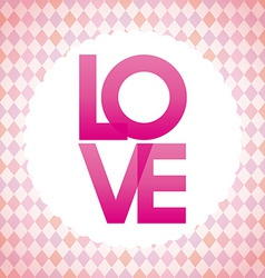 Love postcard vector