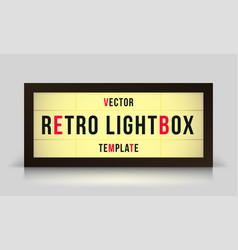 Marquee retro lightbox signage template vector