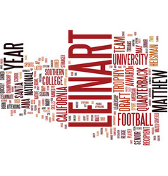 Matt leinart text background word cloud concept vector