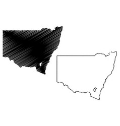 new south wales map vector image
