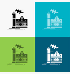 Pollution factory air alert industry icon over vector