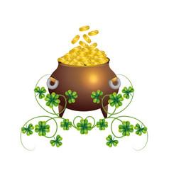Pot gold wealth vector