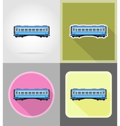 Railway transport flat icons 13 vector