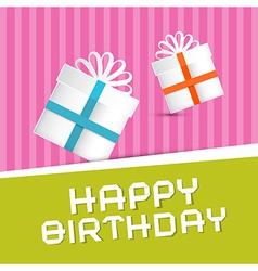 Retro Happy Birthday Theme Present Boxes on vector image