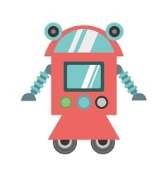 Robot cyborg machine futuristic vector