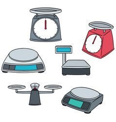 Set of weighing machine vector