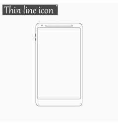 Smartphone icon Style thin line vector