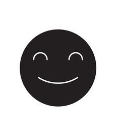 smiling emoji black concept icon smiling vector image