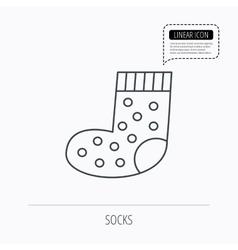 Sock icon Baby underwear sign vector