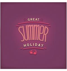 Summer retro lettering design vector